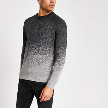 River Island Mens Supergry Gradient Knitted Jumper