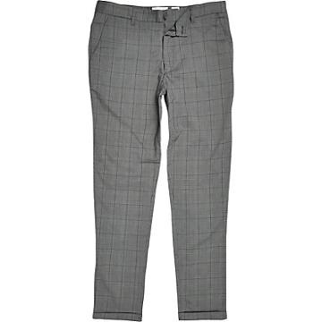 River Island Mens Minimum Check Slim Fit Trousers