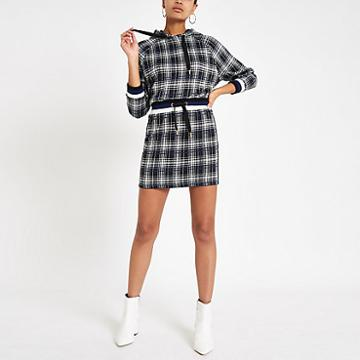 River Island Womens Check Jogger Mini Skirt