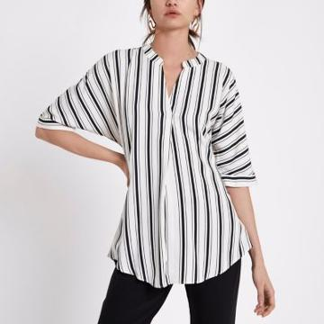 River Island Womens Stripe Short Sleeve Twist Back Blouse