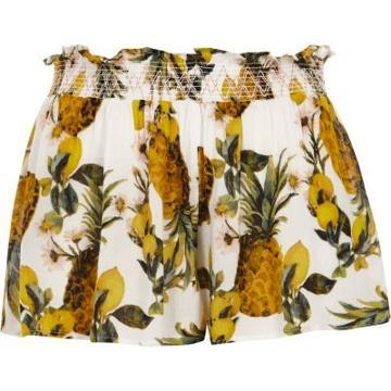 River Island Womens Pineapple Print Beach Shorts