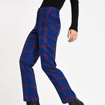 River Island Womens Plaid Check Cigarette Pants