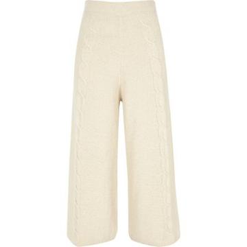 River Island Womens Cable Knit Culottes