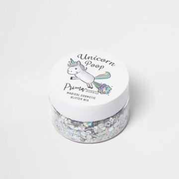 River Island Womens Unicorn Poop Silver Glitter Mix