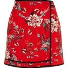 River Island Womens Floral Print Mini Skirt
