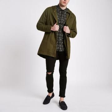 River Island Mens Only And Sons Hooded Parka Jacket