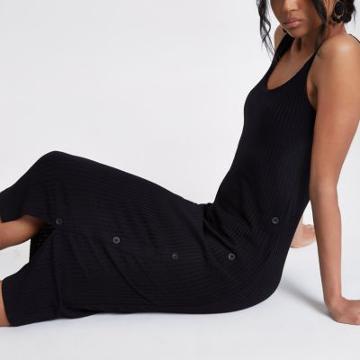 River Island Womens Asymmetric Button Bodycon Dress