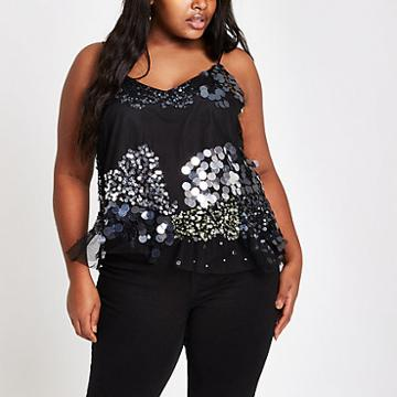 River Island Womens Plus Sequin Cami Top