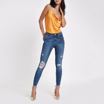 River Island Womens Amelie Ripped Ri Skinny Jeans