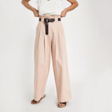 River Island Womens Petite Belted Wide Leg Pants