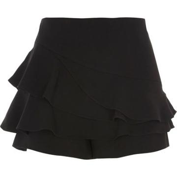 River Island Womens Tiered Frill Structured Skort