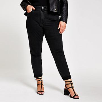 River Island Womens Plus Ripped Mom Jeans
