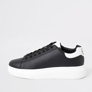 River Island Mens Wedge Lace-up Trainers