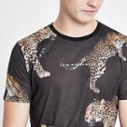 Mens Criminal Damage Animal Print T-shirt
