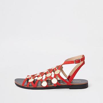 River Island Womens Caged Stud Embellished Sandals