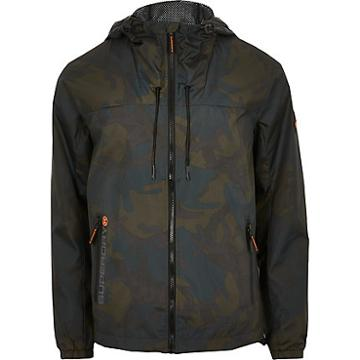 River Island Mens Superdry Camo Hooded Cagoule