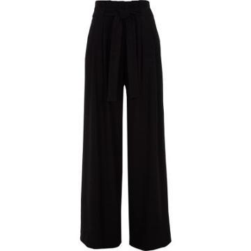 River Island Womens Tie Belt Wide Leg Trousers