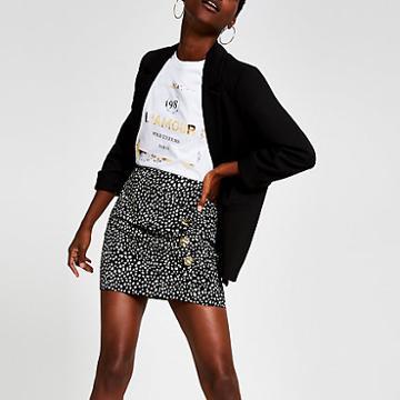 River Island Womens Print Wrap Skirt