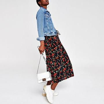 River Island Womens Floral Midi Skirt