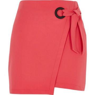River Island Womens Wrap Eyelet Tie-up Mini Skirt