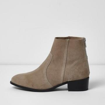 River Island Womens Suede Ankle Boots