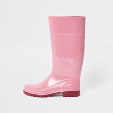 River Island Womens Glitter Sole Wellie Boots