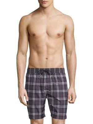 Burberry Checkered Cotton Shorts