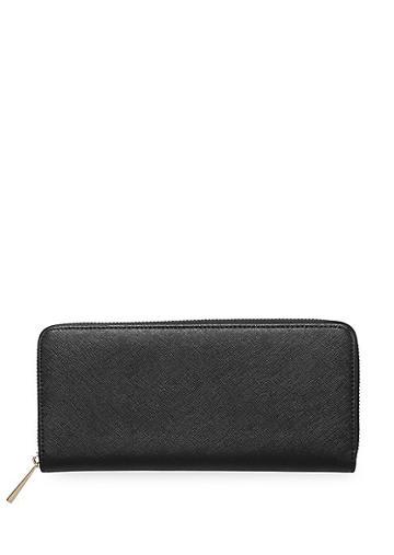 Tde Leather Zip Continental Wallet