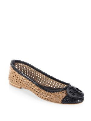 Tory Burch Pasadena Leather Ballet Flats