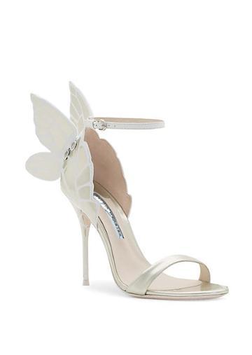Sophia Webster Chiara Metallic Wing Stiletto Sandals