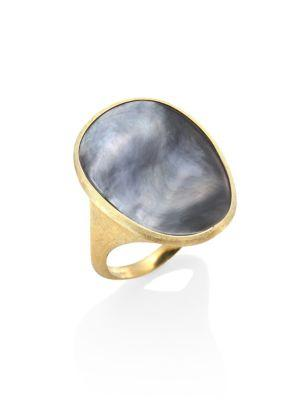 Marco Bicego Lunaria Black Mother-of-pearl & 18k Yellow Gold Ring