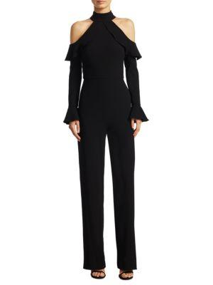 Ml Monique Lhuillier Cold-shoulder Jumpsuit