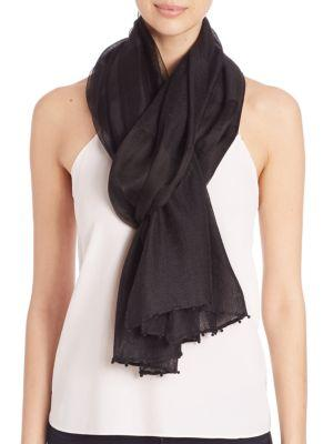 Bajra Striped Silk & Wool Scarf