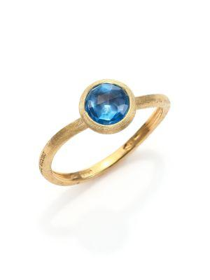 Marco Bicego Jaipur Blue Topaz & 18k Yellow Gold Ring