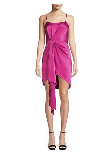 Fleur Du Mal Cascade Silk Scarf Sheath Dress