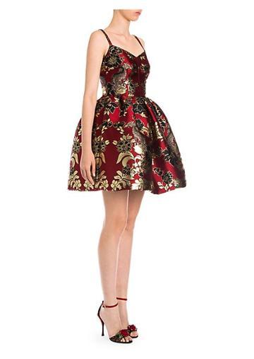 Dolce & Gabbana Sleeveless Jacquard Full Skirt Dress