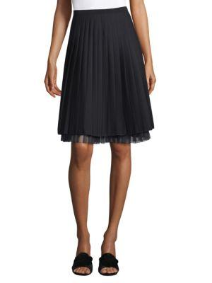 Marc Jacobs Pleated Stretch-wool Skirt
