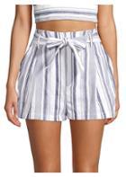 Parker Kirby Striped Tie-waist Shorts