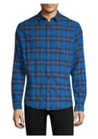 The Kooples Plaid Denim Button-down Shirt