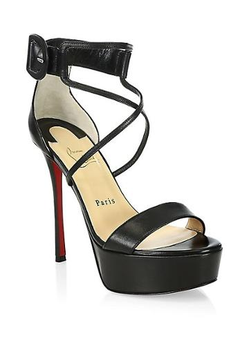 Christian Louboutin Choca 130 Leather Platform Sandals