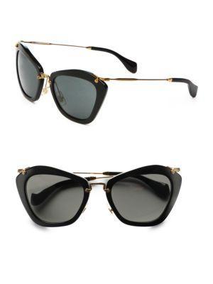 Miu Miu Noir Catwalk Cat's-eye Sunglasses
