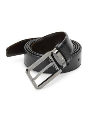 Montblanc Rectangular Leather Belt Set