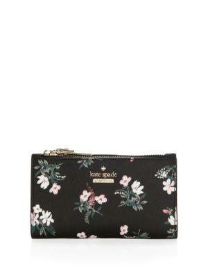 Kate Spade New York Cameron Street Floral Leather Wristlet