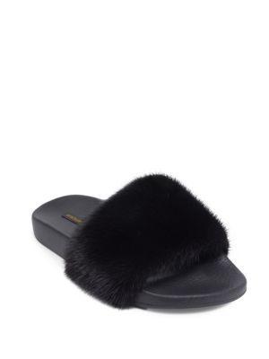 Dolce & Gabbana Mink Fur Slides