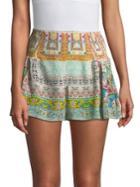 Camilla Side Flounce Silk Shorts