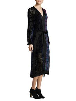 Diane Von Furstenberg Long-sleeve Kimono Dress