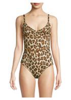 Caroline Constas Mykela Leopard One-piece