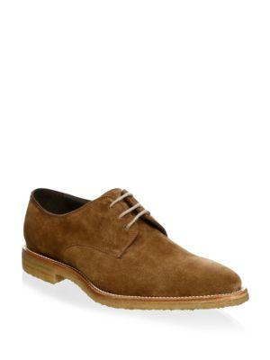 To Boot New York Almond Toe Suede Derbys