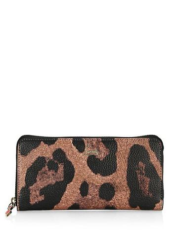 Christian Louboutin Panettone Leather Leopard Wallet