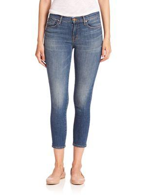 J Brand Mid-rise Capri Skinny Jeans